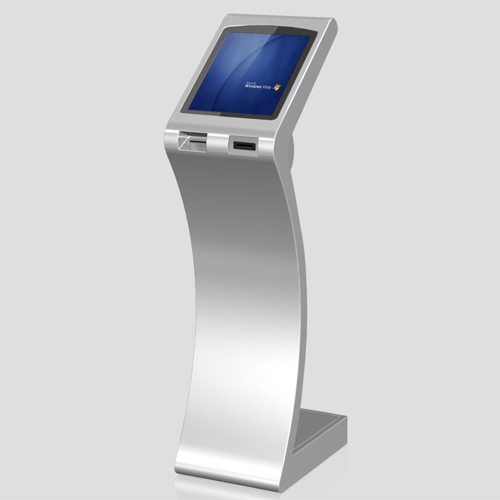 Mordern Design Slim Free Standing Touch Screen Self Service Kiosk With Thermal Printer