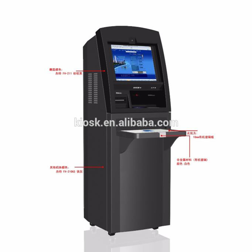 OEM ODM Financial Self-Service Touch Screen Kiosk With Cash Dispenser