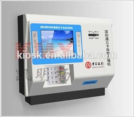 On Bus Customized Touch Screen Payment Kiosk Supporting Bank Credit Card Reader