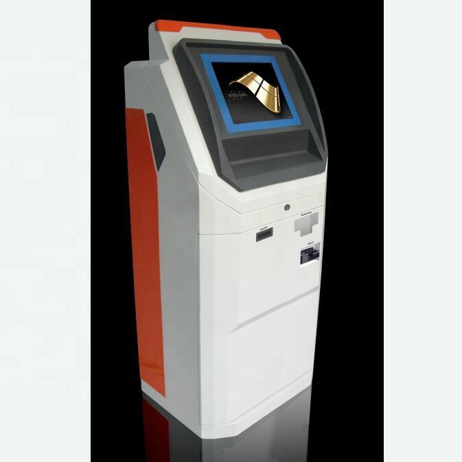 Self Currency Exchange Kiosk Touch Screen Machine With Cash And Coin