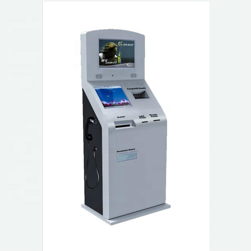 Self-Service Touch Screen Tax Refund KIOSK At International Airport And Tax Free Shops And Custom Office Service Building