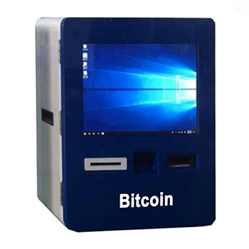 Wall mounted touch screen cash payment Bitcoin ATM